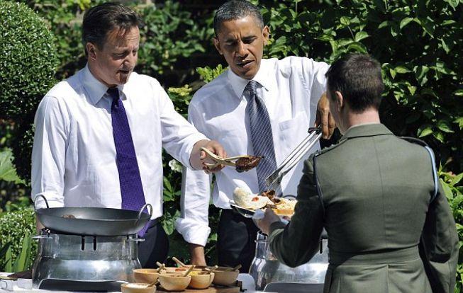 David Cameron & Barak Obama BBQ at No.10